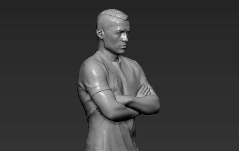 Cristiano Ronaldo Portugal ready for full color 3D printing 3D Print 229468