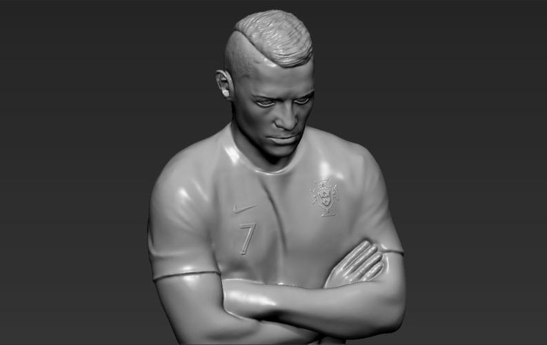 Cristiano Ronaldo Portugal ready for full color 3D printing 3D Print 229470