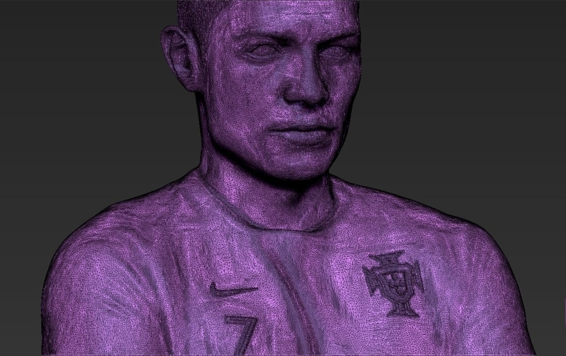 Cristiano Ronaldo Portugal ready for full color 3D printing 3D Print 229473