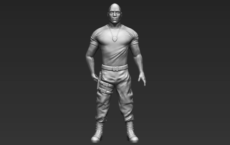Dwayne The Rock Johnson Fast and Furious 3D printing ready