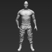 Small Dwayne The Rock Johnson Fast and Furious 3D printing ready  3D Printing 229567