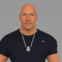 Small Dwayne The Rock Johnson Fast and Furious full color 3D printing 3D Printing 229581