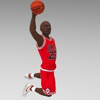 Small Michael Jordan ready for full color 3D printing 3D Printing 229613