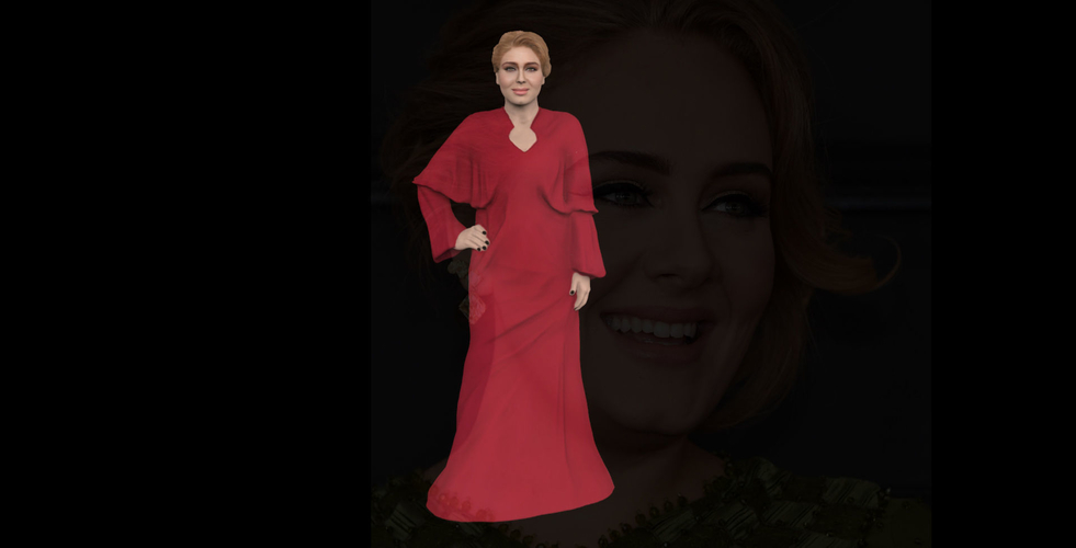 Adele ready for full color 3D printing 3D Print 229674