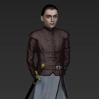Small Arya Stark ready for full color 3D printing 3D Printing 229707