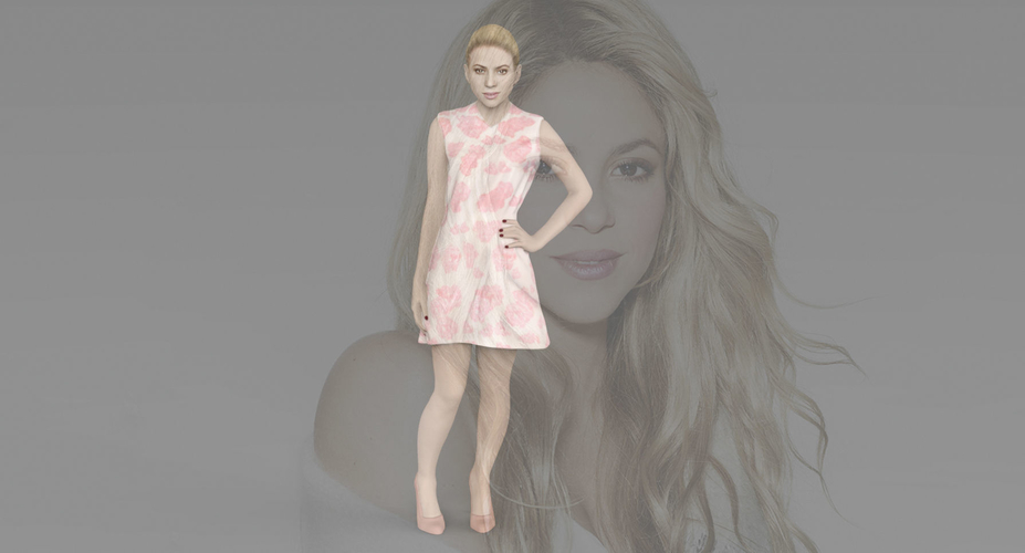 Shakira ready for full color 3D printing 3D Print 229795