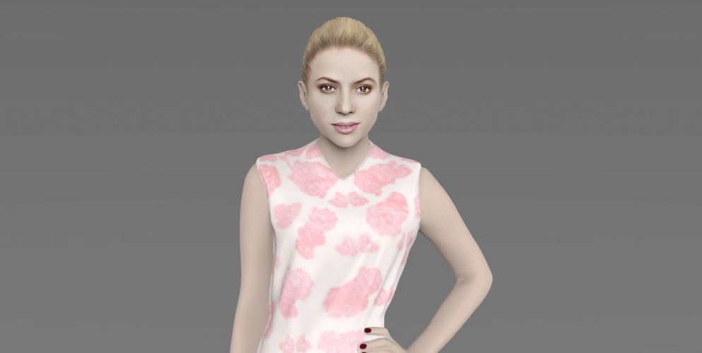 Shakira ready for full color 3D printing 3D Print 229796