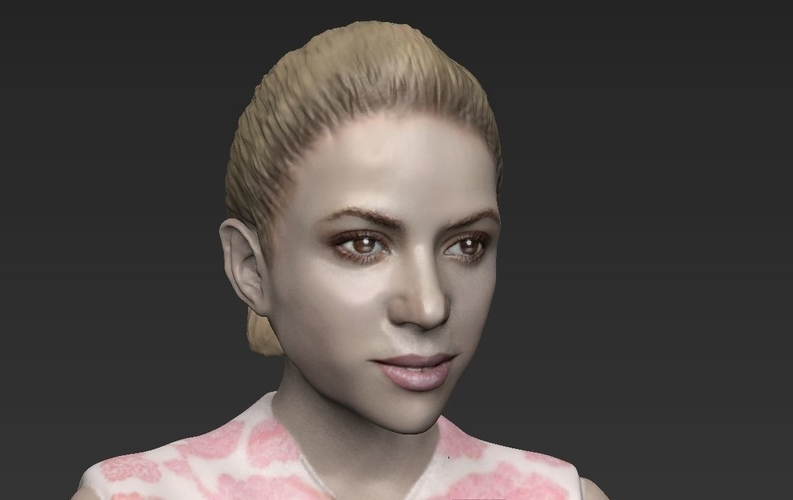 Shakira ready for full color 3D printing 3D Print 229803
