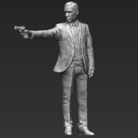 Small Al Pacino Michael Corleone Godfather 3D printing ready stl obj 3D Printing 229813