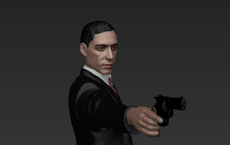 Al Pacino Michael Corleone Godfather for full color 3D printing 3D Print 229830