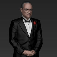 Small Marlon Brando Vito Corleone Godfather full color 3D printing 3D Printing 229847
