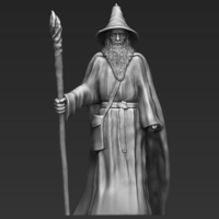 Small Gandalf the Lord of the Rings Hobbit 3D printing ready stl obj 3D Printing 229899