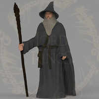 Small Gandalf the Lord of the Rings Hobbit full color 3D printing 3D Printing 229913