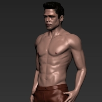 Small Tyler Durden Brad Pitt Fight Club for full color 3D printing 3D Printing 229952