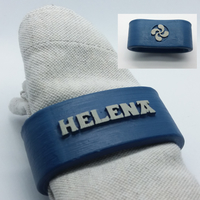 Small HELENA 3D Napkin Ring with lauburu 3D Printing 230015