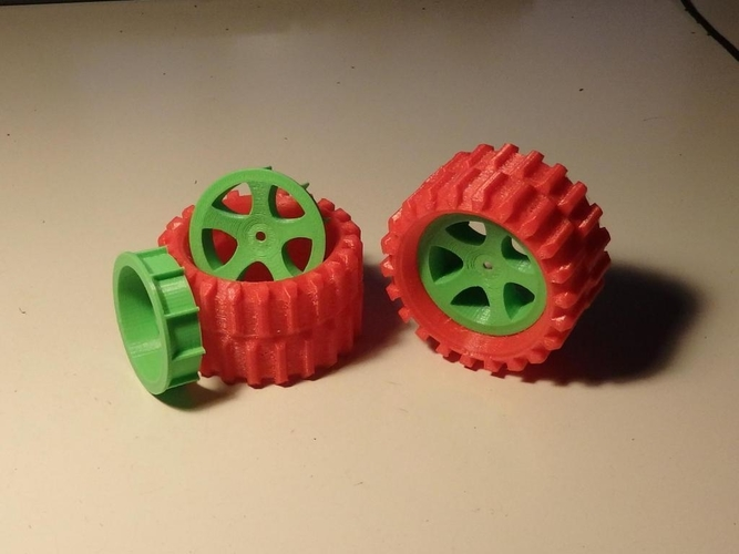 Sand/Snow Tires for 1/10-1/12 rc toys cars    3D Print 230034