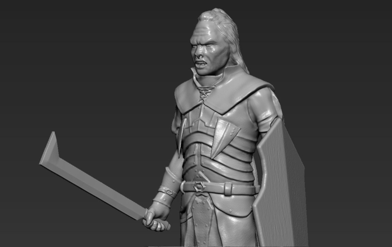 Lurtz Uruk-Hai The Lord of the Rings 3D printing ready 3D Print 230098