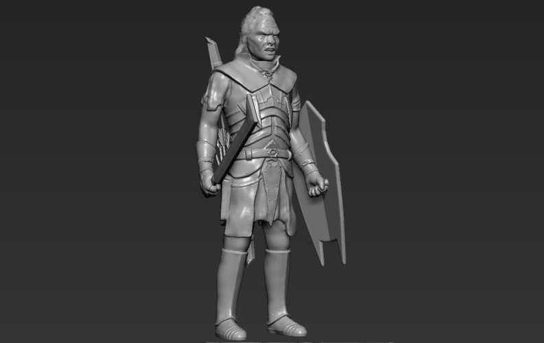 Lurtz Uruk-Hai The Lord of the Rings 3D printing ready 3D Print 230099