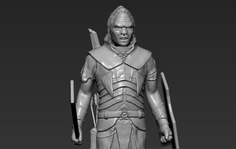 Lurtz Uruk-Hai The Lord of the Rings 3D printing ready 3D Print 230111