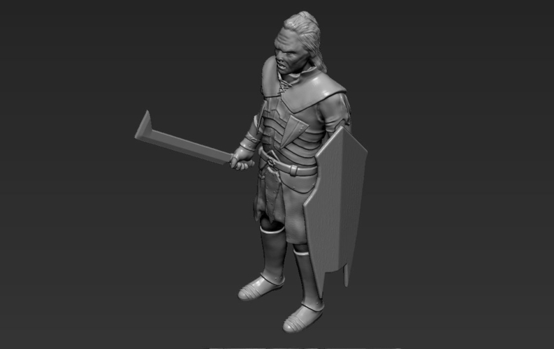 Lurtz Uruk-Hai The Lord of the Rings 3D printing ready 3D Print 230116