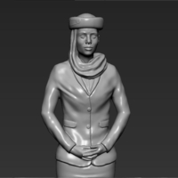 Small Emirates Airline stewardess 3D printing ready stl ob 3D Printing 230143