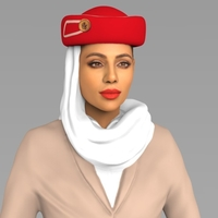 Small Emirates Airline stewardess ready for full color 3D printing 3D Printing 230156