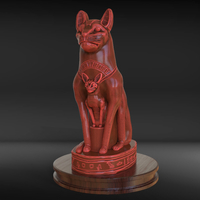 Small Egyptian Cat Sculpture 3D Printing 230186