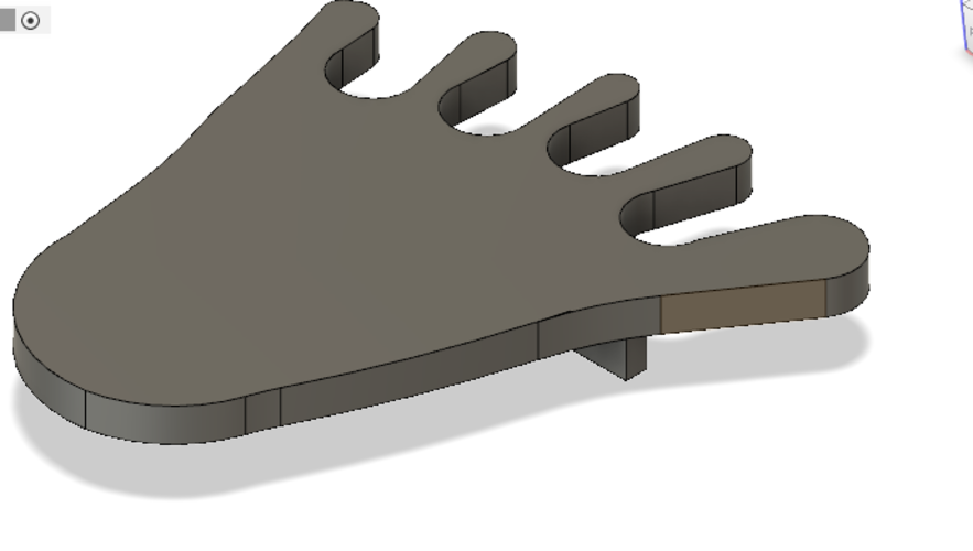 foot shaped pool cue holder 3D Print 230187