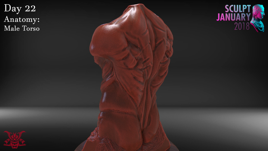 Male Torso Sculpture 3D Print 230193
