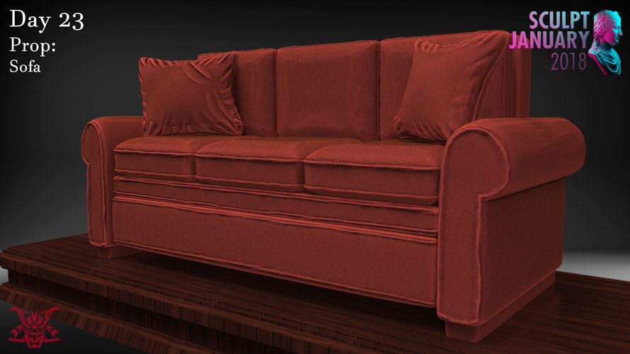 Sofa Sculpture 3D Print 230202