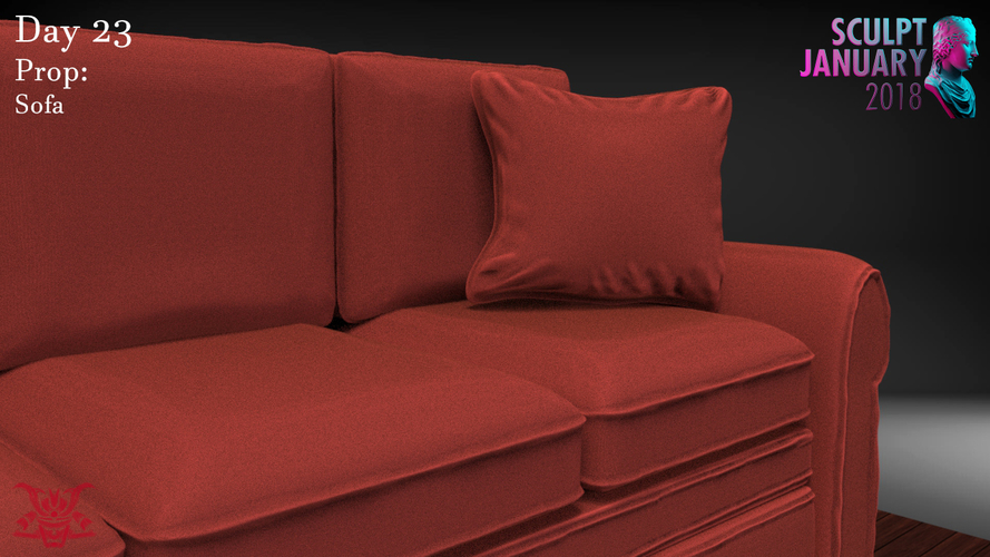 Sofa Sculpture 3D Print 230203