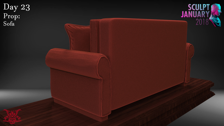 Sofa Sculpture 3D Print 230205