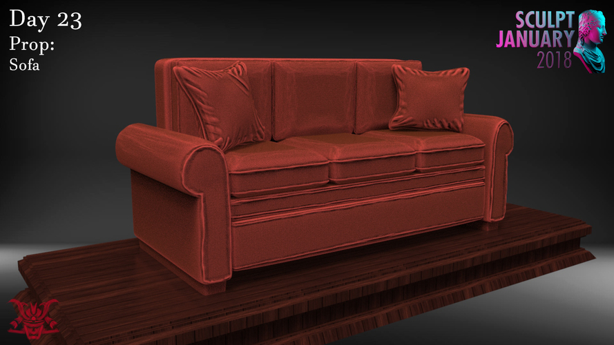 Sofa Sculpture 3D Print 230207