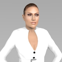 Small Jennifer Lopez ready for full color 3D printing 3D Printing 230237