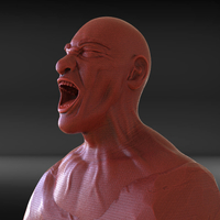 Small Angry Man Sculpture 3D Printing 230261