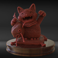 Small Lucky Cat 3D Printing 230294