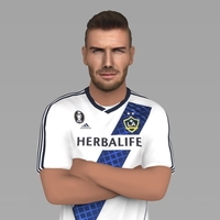 Small David Beckham LA Galaxy ready for full color 3D printing 3D Printing 230329