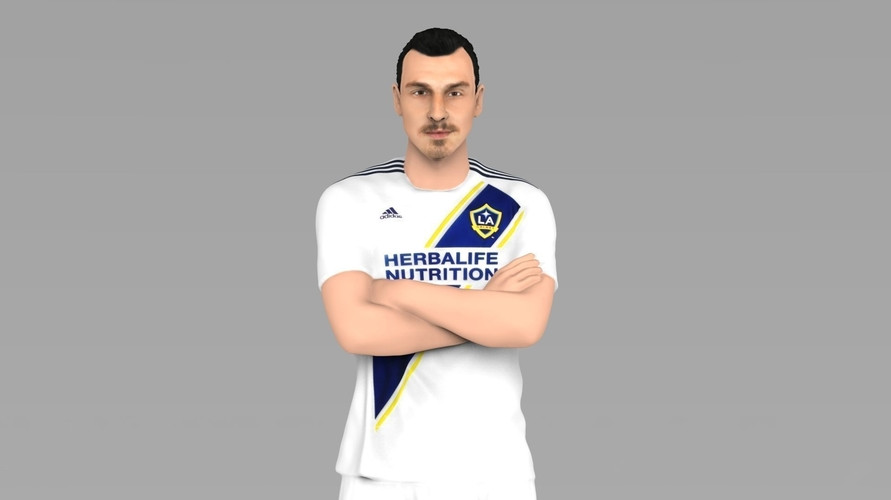 new product f5189 68049 Zlatan Ibrahimovic LA Galaxy ready for full color 3D printing