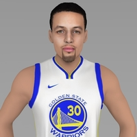 Small Stephen Curry ready for full color 3D printing 3D Printing 230411