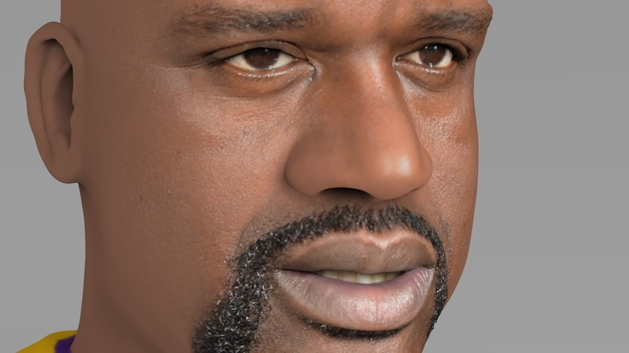 Shaq ONeal bust ready for full color 3D printing 3D Print 230485