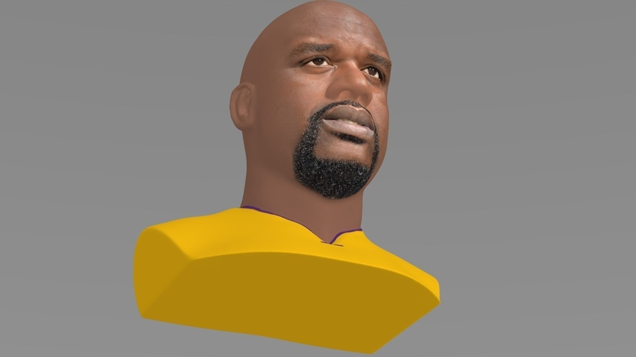 Shaq ONeal bust ready for full color 3D printing 3D Print 230486