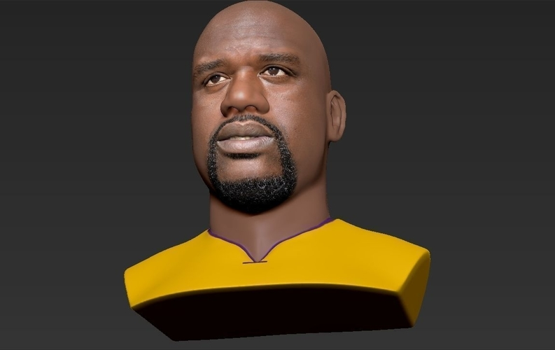 Shaq ONeal bust ready for full color 3D printing 3D Print 230492