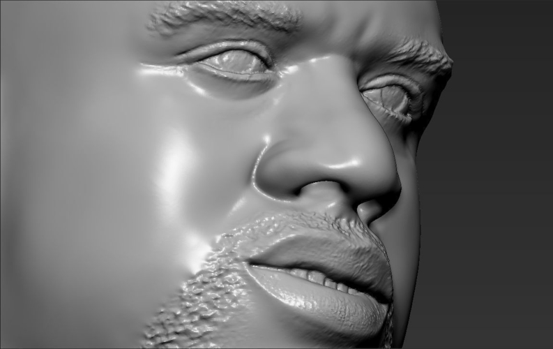 Shaq ONeal bust ready for full color 3D printing 3D Print 230501