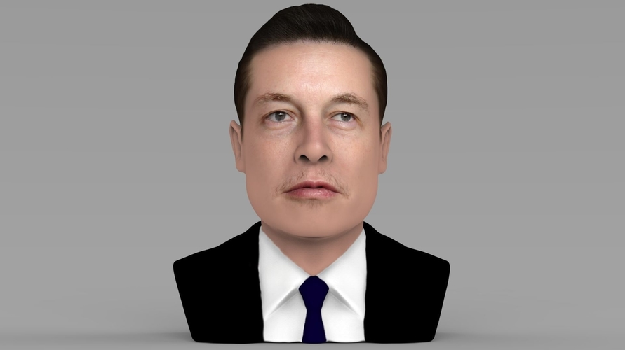 Elon Musk bust ready for full color 3D printing 3D Print 230557