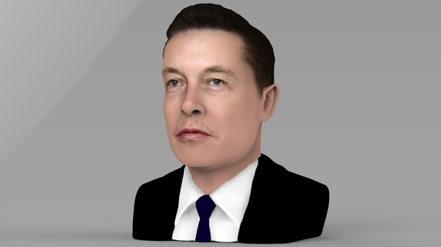 Elon Musk bust ready for full color 3D printing 3D Print 230558