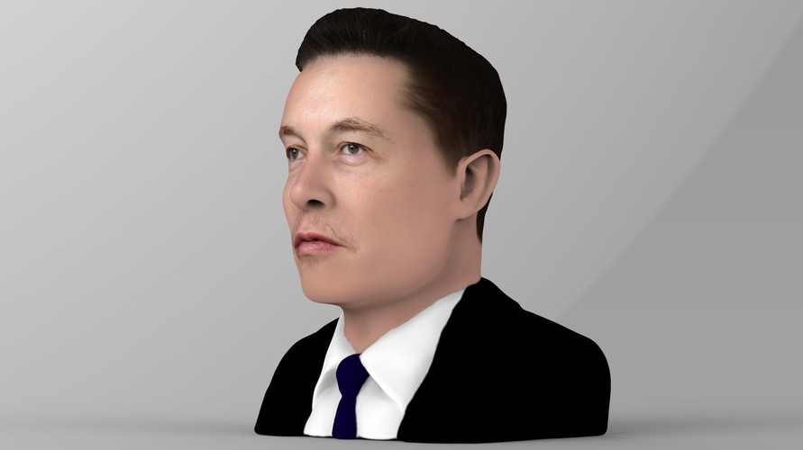 Elon Musk bust ready for full color 3D printing 3D Print 230559