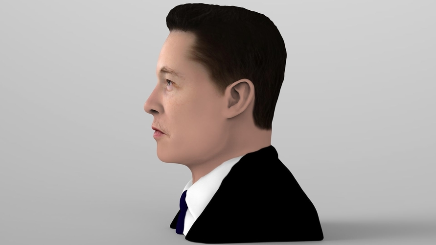 Elon Musk bust ready for full color 3D printing 3D Print 230561