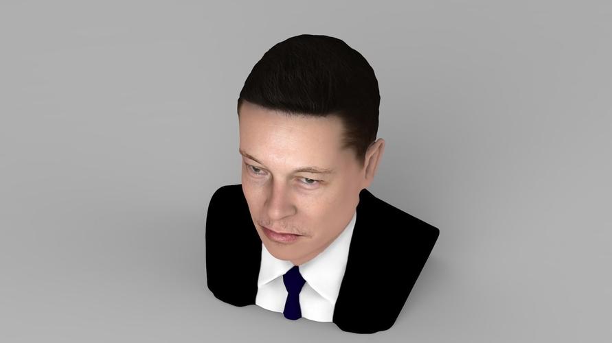 Elon Musk bust ready for full color 3D printing 3D Print 230562
