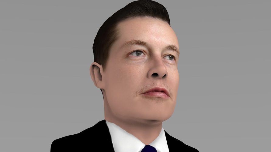 Elon Musk bust ready for full color 3D printing 3D Print 230564