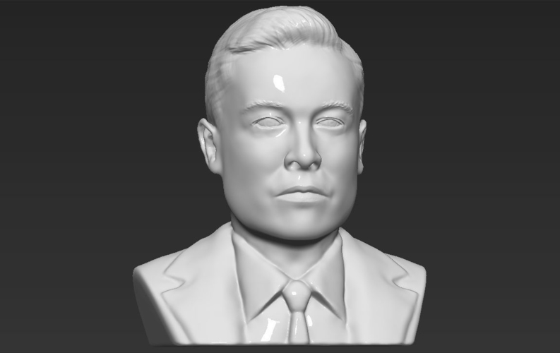 Elon Musk bust ready for full color 3D printing 3D Print 230568